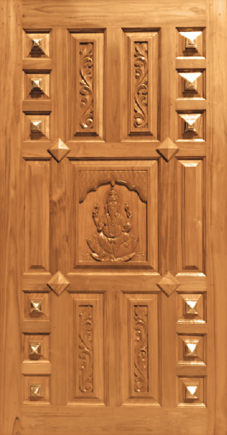 JJ-155 & Teak Wood Pyramid Design u2013 JJ Doors